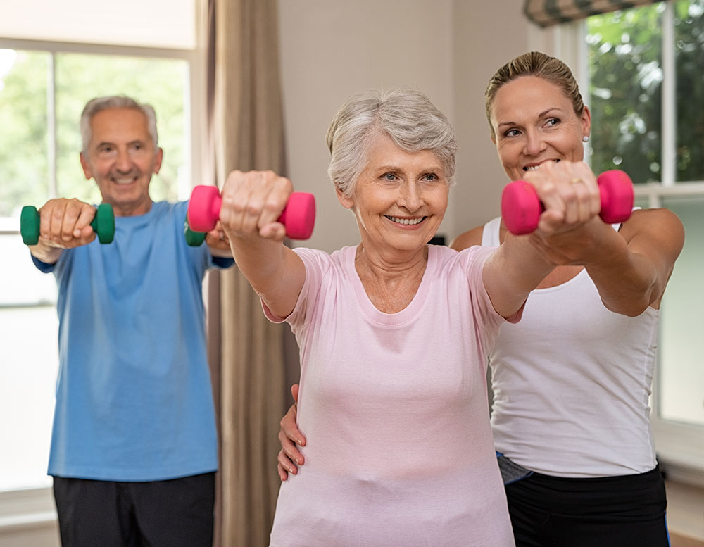 Elderly fitness class